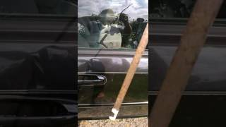 Make a slim jim out of a file folder to unlock your car, side airbag myth
