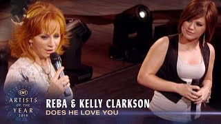 Reba & Kelly Clarkson Perform 'Does He Love You' | CMT