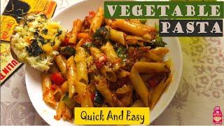 Tastiest Vegetable Pasta in Red Sauce - A Treat for Vegetarians - Healthy and Yummy Penne  Pasta