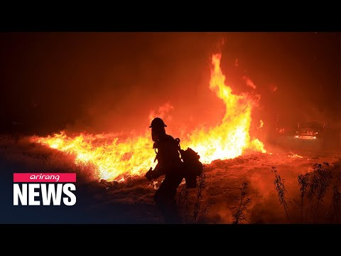 Massive wildfire in southern California continues to rage amid scorching heatwave