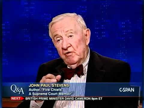 "Fmr. Justice John Paul Stevens, Author, ""Five Chiefs: A Supreme Court Memoir"""