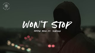 Justin Mylo - Won't Stop (feat. Shaylen) [Lyrics]