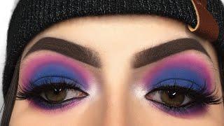 Blue & Pink Eyeshadow Tutorial - Take Me Back To Brazil Palette