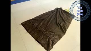 A-Line Straight Wrap Skirt To Look Slim [ Hindi ] - DIY