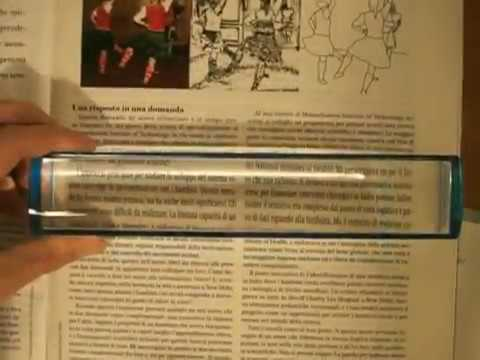 Lente di ingrandimento per lettura: lente a barra per leggere giornali, libri e riviste.