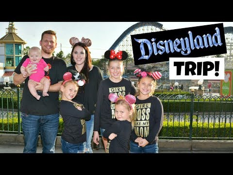 SURPRISING THE GIRLS WITH A FUN TRIP TO DISNEYLAND! FAMILY VLOG