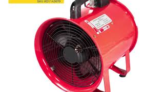 Portable Exhaust Fan - Ventilation Diameter 12