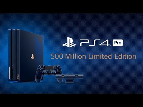 PlayStation 4 Pro 推出透明限量版!紀念賣出5億部