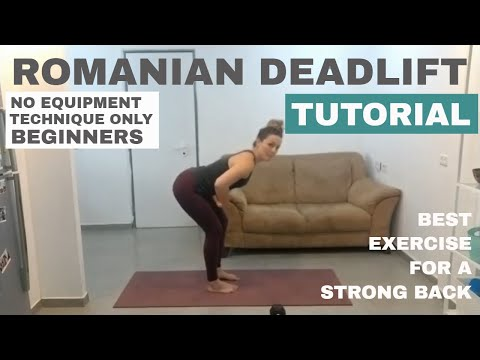 Romanian Deadlift (RDL) Tutorial (no weight)
