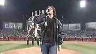Josh Groban sings national anthem