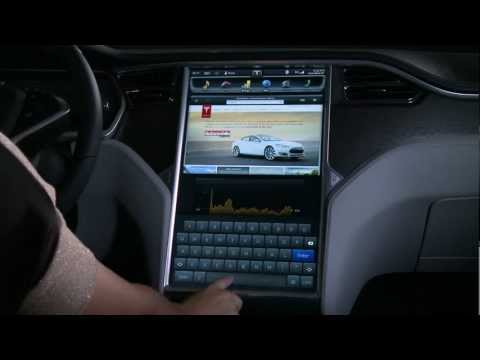 Tesla Model S 17″ Touchscreen Display Demo
