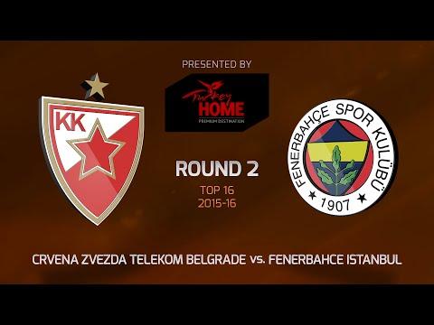 Highlights: Top 16, Round 2, Crvena Zvezda 65-88 Fenerbahce Istanbul