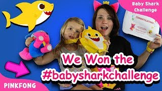 Audrey Won the #babysharkchallenge by Pinkfong! Unboxing our prizes! Pinkfong song dance challenge