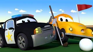 Odtahové auto pro děti - Policejní Auto Mat Sestřelí Při Golfu Letadélko Penny!