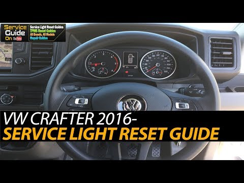 VW CRAFTER - RESET OIL SERVICE / RESET SPIA CHIAVE CAMBIO OLIO
