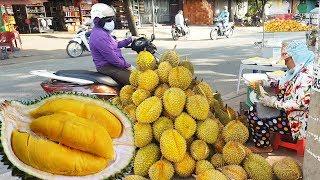 Cao thủ nữ bổ sầu riêng kiếm tiền triệu mỗi ngày ở Sài Gòn | street food of saigon | vnt