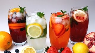 Lemonade 4 Ways - Classic - Strawberry (Pink) - Blueberry & Orange - Pomegranate  - Treat Factory