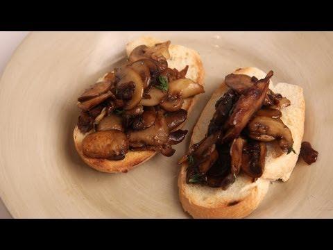 Mushroom Bruschetta Recipe – by Laura Vitale – Laura in the Kitchen Episode 289
