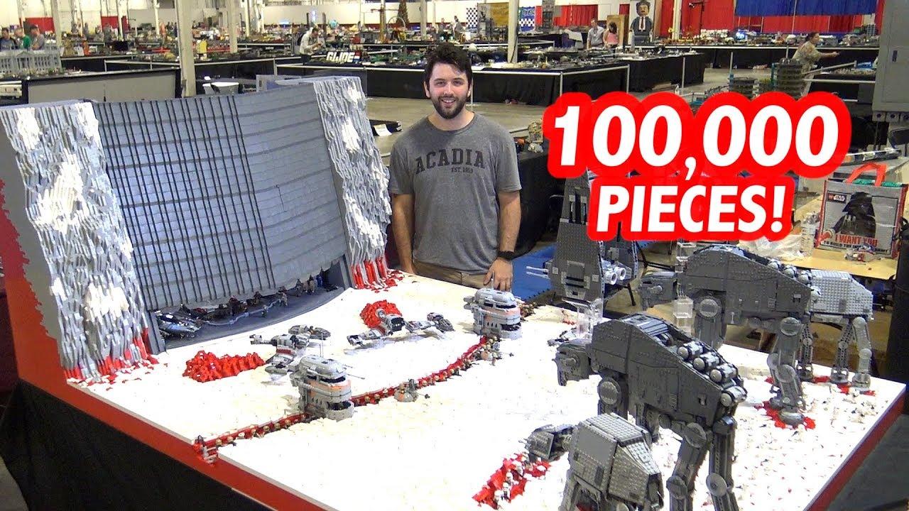Giant LEGO Battle of Crait by Solid Brix Studios! Custom Star Wars