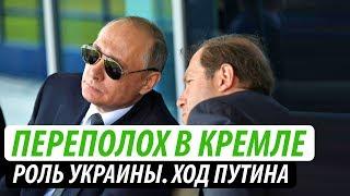 Переполох в Кремле.  Роль Украины. Ход Путина