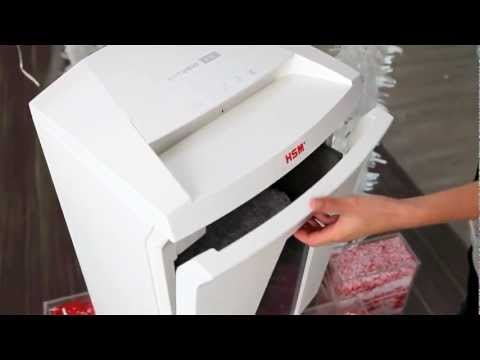 Video of the HSM SECURIO B24 CC-4 Shredder