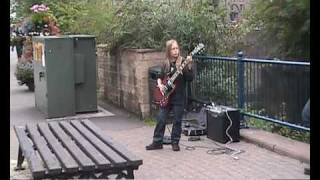 AC/DC Highway To Hell Busking In Matlock Bath Jem (Belper School)