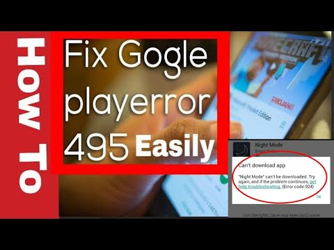 Fix Error 495 in Google Play Store