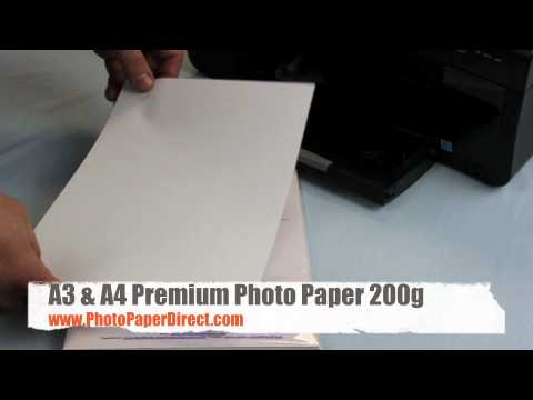A3 and A4 Pro Photo Paper 200g