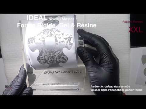 papier forme gel uv chablon