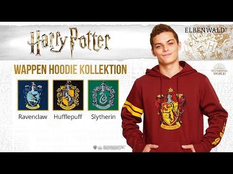 Harry Potter Wappen Hoodies zu Gryffindor, Hufflepuff, Ravenclaw, Slytherin und Hogwarts