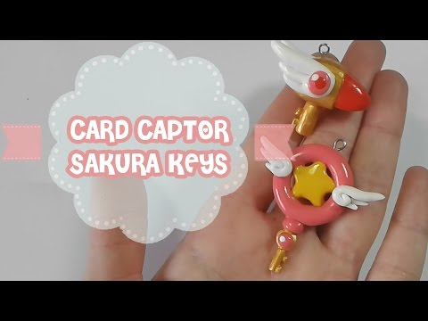 Card Captor Sakura Keys Polymer Tutorial   Fimo   Porcelana   Plastilina