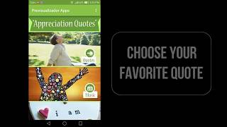 Appreciation Quotes Video 2018 Free App