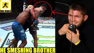 MMA Community React to Derek Brunson DOMINATING a LAUGHING-TALKING Kevin Holland,Khabib gives advice