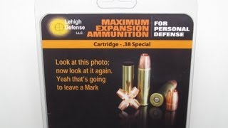 Lehigh Defense 38 Special Maximum Expansion® Denim and Clear Gel Test