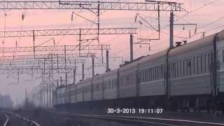ВЛ80С-2254 с поездом №43 Алматы — Кустанай