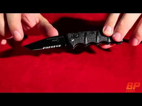Boker Mini Kalashnikov Black Automatic Knife - Bead Blast Plain