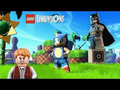 LEGO Dimensions - Batman e Owen Grady na fase do Sonic [ LIVE ] Caraca Games