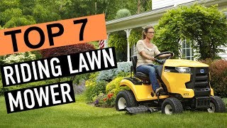 BEST 7: Riding Lawn Mower 2019