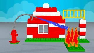 Пожарная часть.  Пожарная Станция. Как пожарные тушат настоящий пожар. Fire Station.