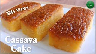 Easy Cassava Cake Recipe | Cassava Cake Using Fresh Cassava | How To Cook Cassava Cake