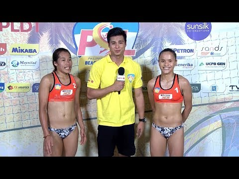Bernadeth Pons and Sisi Rondina | PSL Beach Volleyball Challenge Cup 2018