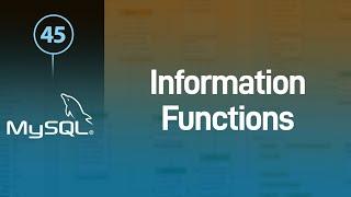 MySQL دوال المعلومات Information Functions