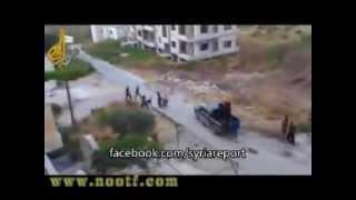 preview picture of video 'حلب قصف لطيران الجيش السوري يقتل 10 من مسلحي المعارضة  23\11\2013'