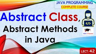 Abstract Class and Abstract Methods in Java with Example in Hindi and English