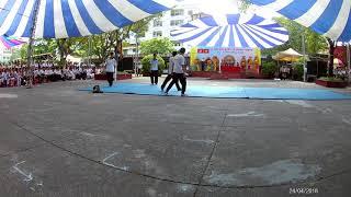 HS Trường THPT Hùng Vương biểu diễn hoạt cảnh võ thuật ngày Giỗ tổ HV năm học 2017-2018 (Phần 1)