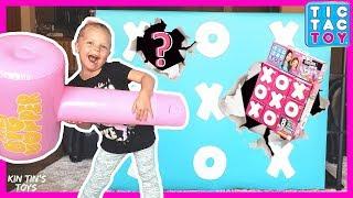 Tic Tac Toy GIANT Smash Wall Surprise Toys | 3 Rares & 1 Ultra Rare FOUND! | XOXO