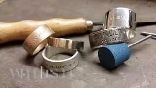 Hand Stamped Silver Ring | Metal Pressions