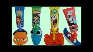 FINDING DORY Bath Time With Finger Paint Soap,  Nemo & Hank