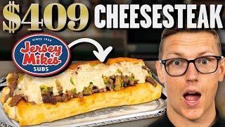 $409 Japanese A5 Wagyu Cheesesteak Taste Test | FANCY FAST FOOD