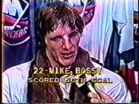 Mike Bossy Scores 2 to reach 50 in 50 - Jan.24,1981